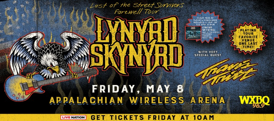 win tickets to see travis tritt and lynyrd skynyrd in pikeville ky 96 9 wxbq. Black Bedroom Furniture Sets. Home Design Ideas